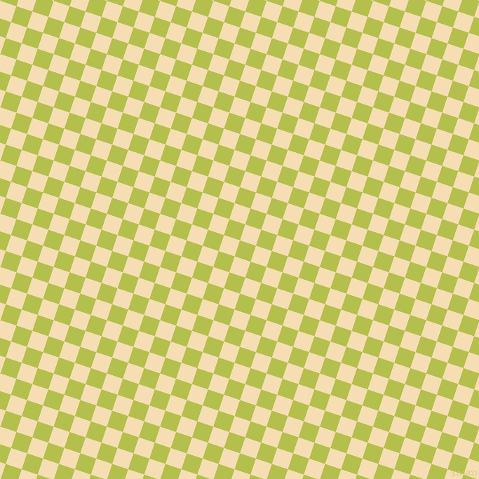 72/162 degree angle diagonal checkered chequered squares checker pattern checkers background, 24 pixel square size, , Celery and Wheat checkers chequered checkered squares seamless tileable