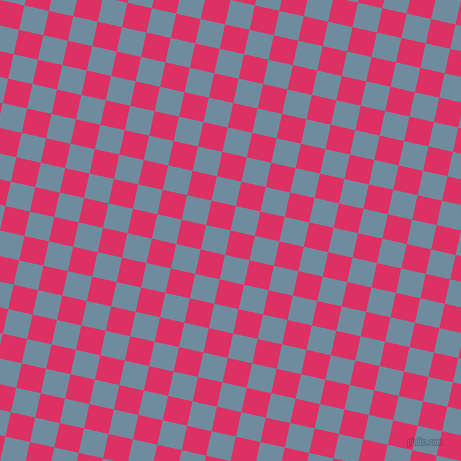 77/167 degree angle diagonal checkered chequered squares checker pattern checkers background, 25 pixel square size, , Cerise and Bermuda Grey checkers chequered checkered squares seamless tileable