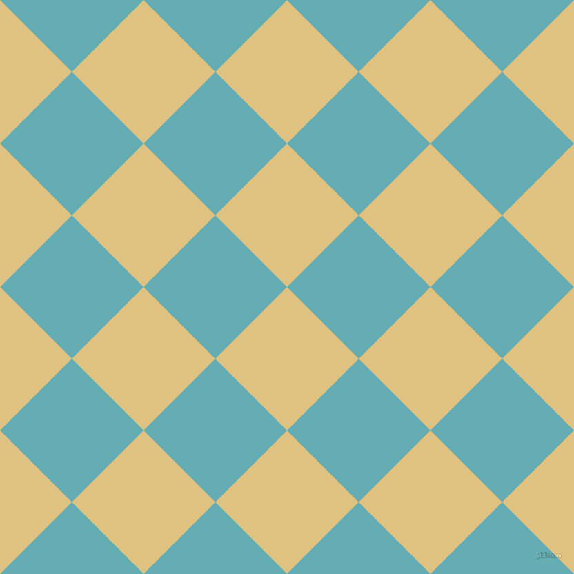 45/135 degree angle diagonal checkered chequered squares checker pattern checkers background, 147 pixel square size, , Chalky and Fountain Blue checkers chequered checkered squares seamless tileable