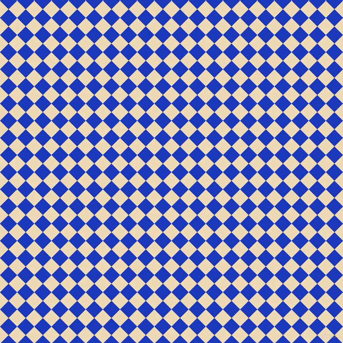 45/135 degree angle diagonal checkered chequered squares checker pattern checkers background, 25 pixel square size, , Champagne and Persian Blue checkers chequered checkered squares seamless tileable