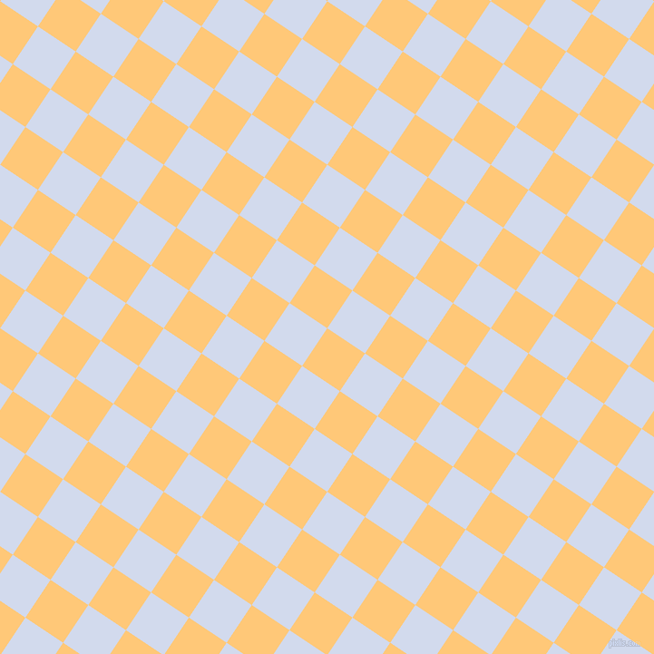 56/146 degree angle diagonal checkered chequered squares checker pattern checkers background, 50 pixel square size, , Chardonnay and Hawkes Blue checkers chequered checkered squares seamless tileable