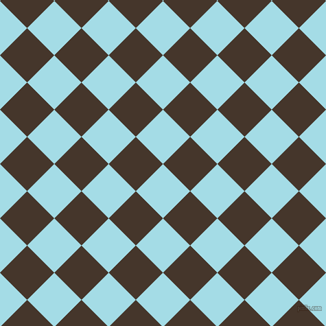 45/135 degree angle diagonal checkered chequered squares checker pattern checkers background, 56 pixel squares size, , Charlotte and Dark Rum checkers chequered checkered squares seamless tileable
