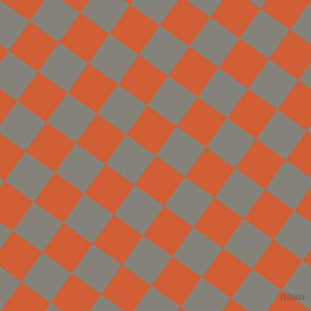 54/144 degree angle diagonal checkered chequered squares checker pattern checkers background, 51 pixel squares size, , Chilean Fire and Friar Grey checkers chequered checkered squares seamless tileable