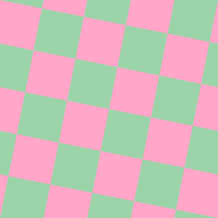 79/169 degree angle diagonal checkered chequered squares checker pattern checkers background, 170 pixel square size, , Chinook and Carnation Pink checkers chequered checkered squares seamless tileable