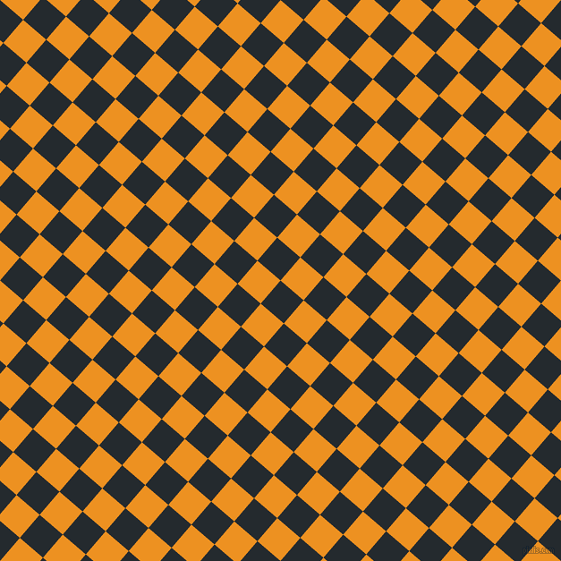 49/139 degree angle diagonal checkered chequered squares checker pattern checkers background, 34 pixel square size, , Cinder and Carrot Orange checkers chequered checkered squares seamless tileable
