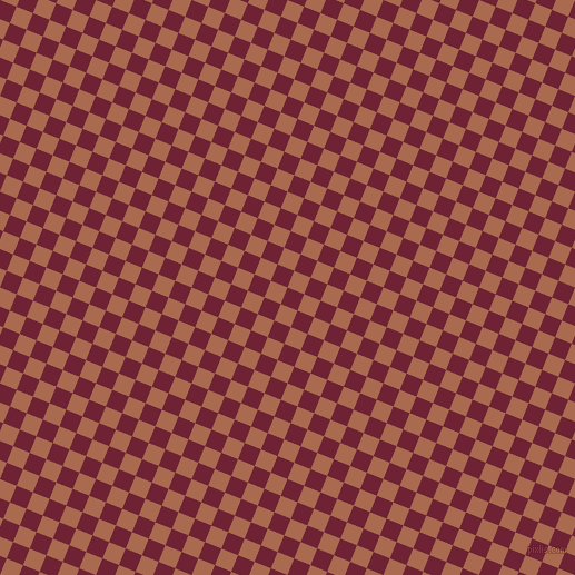 68/158 degree angle diagonal checkered chequered squares checker pattern checkers background, 16 pixel squares size, , Claret and Sante Fe checkers chequered checkered squares seamless tileable