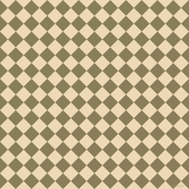 45/135 degree angle diagonal checkered chequered squares checker pattern checkers background, 36 pixel square size, , Clay Creek and Champagne checkers chequered checkered squares seamless tileable