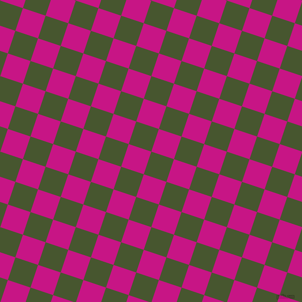 72/162 degree angle diagonal checkered chequered squares checker pattern checkers background, 48 pixel squares size, Clover and Medium Violet Red checkers chequered checkered squares seamless tileable
