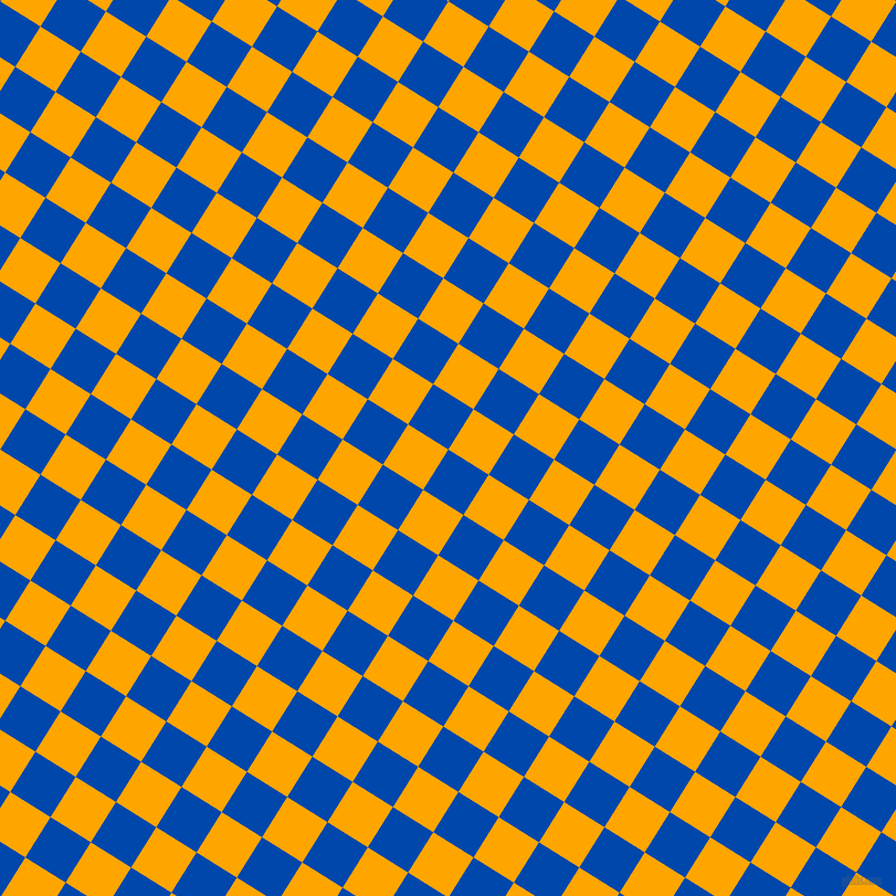 58/148 degree angle diagonal checkered chequered squares checker pattern checkers background, 43 pixel squares size, , Cobalt and Orange checkers chequered checkered squares seamless tileable