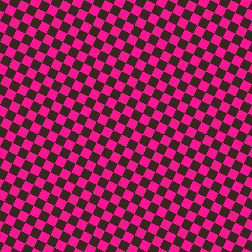 63/153 degree angle diagonal checkered chequered squares checker pattern checkers background, 30 pixel squares size, , Cocoa Brown and Deep Pink checkers chequered checkered squares seamless tileable