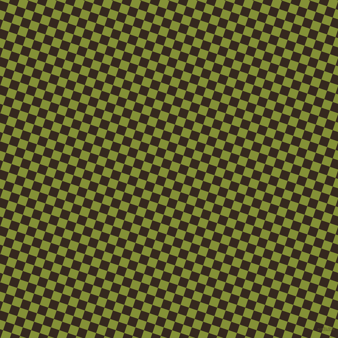 72/162 degree angle diagonal checkered chequered squares checker pattern checkers background, 18 pixel squares size, Cocoa Brown and Wasabi checkers chequered checkered squares seamless tileable