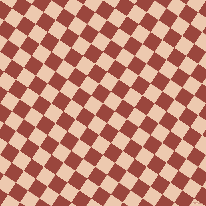 56/146 degree angle diagonal checkered chequered squares checker pattern checkers background, 50 pixel squares size, , Cognac and Desert Sand checkers chequered checkered squares seamless tileable