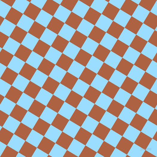 59/149 degree angle diagonal checkered chequered squares checker pattern checkers background, 45 pixel squares size, , Columbia Blue and Tuscany checkers chequered checkered squares seamless tileable