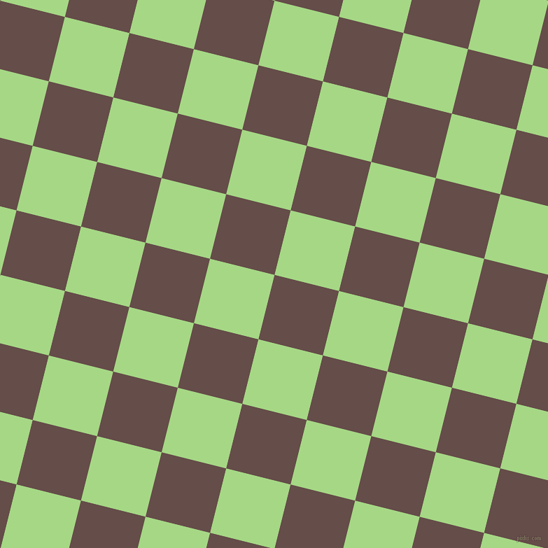 76/166 degree angle diagonal checkered chequered squares checker pattern checkers background, 95 pixel squares size, Congo Brown and Feijoa checkers chequered checkered squares seamless tileable
