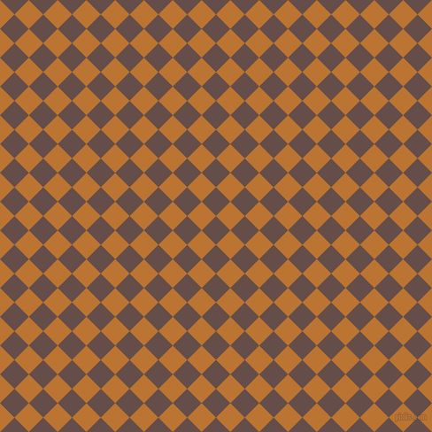 45/135 degree angle diagonal checkered chequered squares checker pattern checkers background, 23 pixel square size, , Congo Brown and Meteor checkers chequered checkered squares seamless tileable