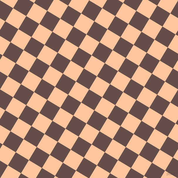 59/149 degree angle diagonal checkered chequered squares checker pattern checkers background, 52 pixel squares size, , Congo Brown and Romantic checkers chequered checkered squares seamless tileable