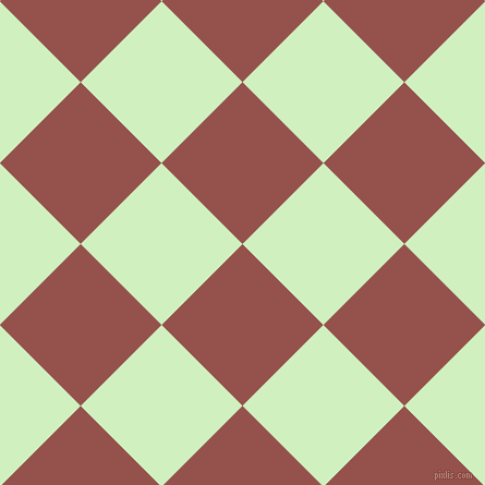 45/135 degree angle diagonal checkered chequered squares checker pattern checkers background, 105 pixel squares size, , Copper Rust and Tea Green checkers chequered checkered squares seamless tileable