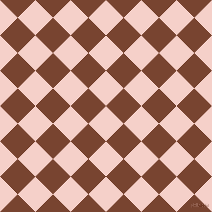 45/135 degree angle diagonal checkered chequered squares checker pattern checkers background, 51 pixel square size, Coral Candy and Cumin checkers chequered checkered squares seamless tileable