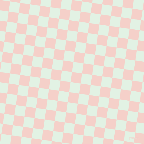 82/172 degree angle diagonal checkered chequered squares checker pattern checkers background, 35 pixel square size, , Coral Candy and Frosted Mint checkers chequered checkered squares seamless tileable