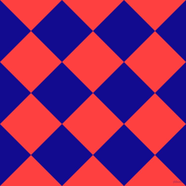 45/135 degree angle diagonal checkered chequered squares checker pattern checkers background, 177 pixel square size, , Coral Red and Ultramarine checkers chequered checkered squares seamless tileable