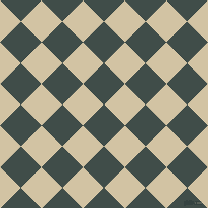 45/135 degree angle diagonal checkered chequered squares checker pattern checkers background, 58 pixel square size, , Corduroy and Double Spanish White checkers chequered checkered squares seamless tileable