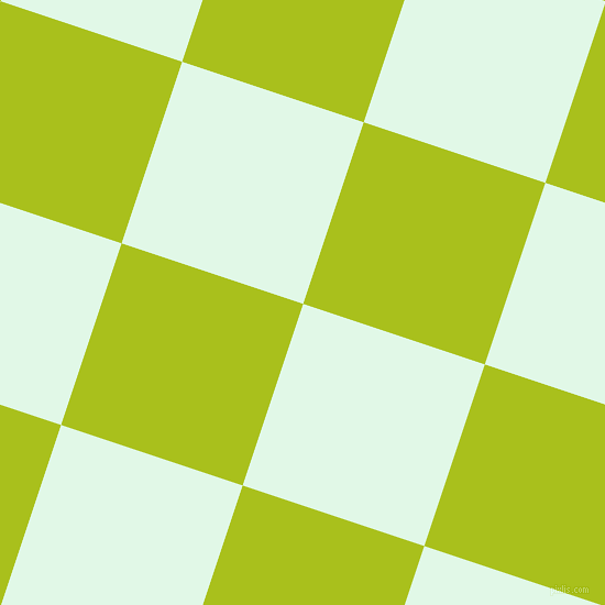 72/162 degree angle diagonal checkered chequered squares checker pattern checkers background, 174 pixel square size, , Cosmic Latte and Bahia checkers chequered checkered squares seamless tileable