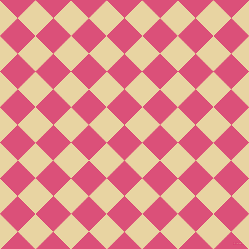 45/135 degree angle diagonal checkered chequered squares checker pattern checkers background, 85 pixel square size, , Cranberry and Hampton checkers chequered checkered squares seamless tileable