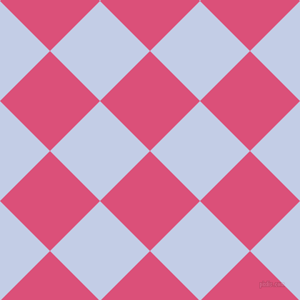 45/135 degree angle diagonal checkered chequered squares checker pattern checkers background, 99 pixel square size, , Cranberry and Periwinkle checkers chequered checkered squares seamless tileable