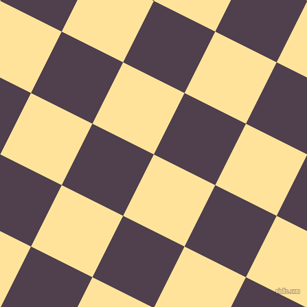 63/153 degree angle diagonal checkered chequered squares checker pattern checkers background, 100 pixel square size, Cream Brulee and Purple Taupe checkers chequered checkered squares seamless tileable