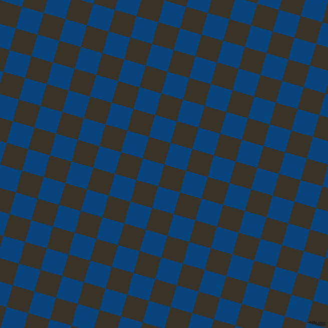 74/164 degree angle diagonal checkered chequered squares checker pattern checkers background, 45 pixel square size, , Creole and Dark Cerulean checkers chequered checkered squares seamless tileable