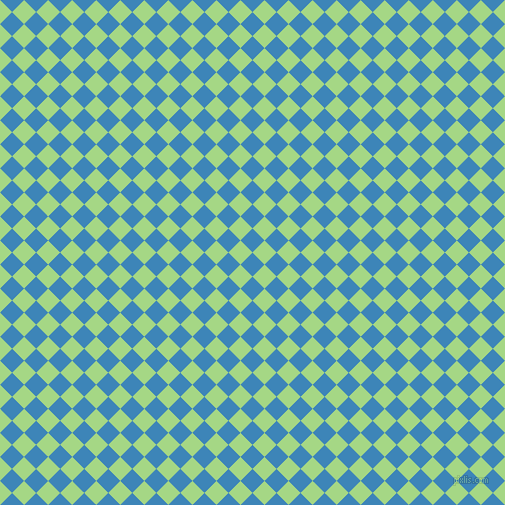 45/135 degree angle diagonal checkered chequered squares checker pattern checkers background, 17 pixel square size, , Curious Blue and Feijoa checkers chequered checkered squares seamless tileable