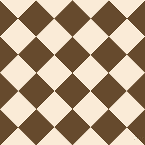 45/135 degree angle diagonal checkered chequered squares checker pattern checkers background, 90 pixel square size, , Dallas and Antique White checkers chequered checkered squares seamless tileable