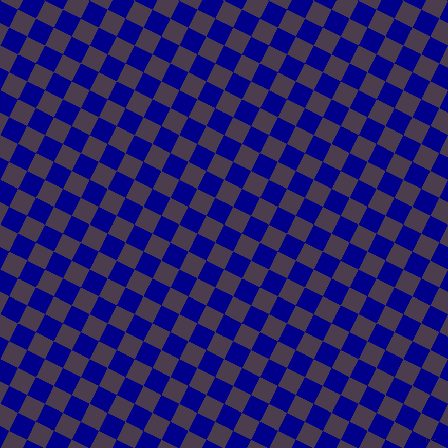 63/153 degree angle diagonal checkered chequered squares checker pattern checkers background, 39 pixel squares size, Dark Blue and Bossanova checkers chequered checkered squares seamless tileable