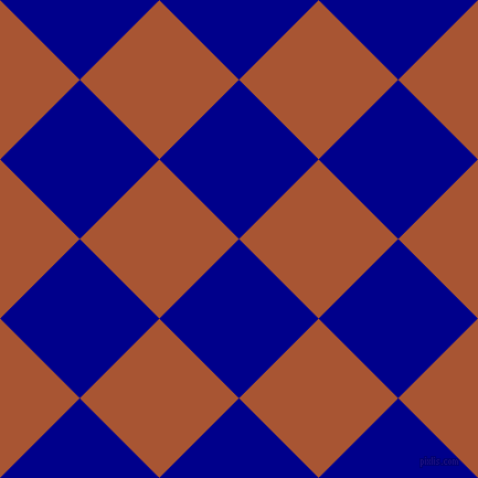 45/135 degree angle diagonal checkered chequered squares checker pattern checkers background, 102 pixel squares size, , Dark Blue and Vesuvius checkers chequered checkered squares seamless tileable