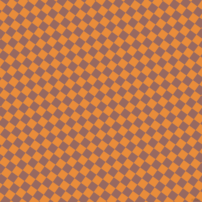 54/144 degree angle diagonal checkered chequered squares checker pattern checkers background, 32 pixel square size, , Dark Chestnut and California checkers chequered checkered squares seamless tileable