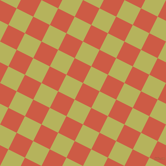 63/153 degree angle diagonal checkered chequered squares checker pattern checkers background, 62 pixel square size, , Dark Coral and Olive Green checkers chequered checkered squares seamless tileable