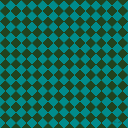 45/135 degree angle diagonal checkered chequered squares checker pattern checkers background, 32 pixel square size, , Dark Cyan and Myrtle checkers chequered checkered squares seamless tileable