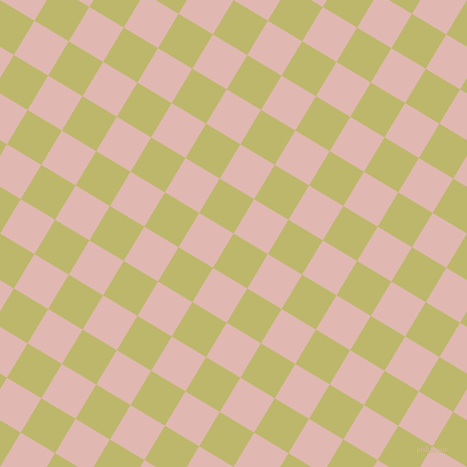 59/149 degree angle diagonal checkered chequered squares checker pattern checkers background, 45 pixel squares size, , Dark Khaki and Cavern Pink checkers chequered checkered squares seamless tileable