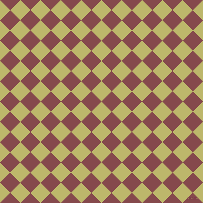 45/135 degree angle diagonal checkered chequered squares checker pattern checkers background, 49 pixel squares size, , Dark Khaki and Solid Pink checkers chequered checkered squares seamless tileable