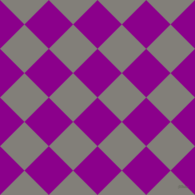 45/135 degree angle diagonal checkered chequered squares checker pattern checkers background, 112 pixel square size, Dark Magenta and Concord checkers chequered checkered squares seamless tileable