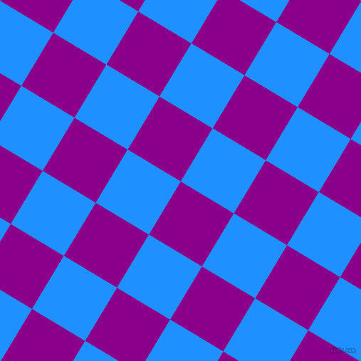 59/149 degree angle diagonal checkered chequered squares checker pattern checkers background, 87 pixel squares size, , Dark Magenta and Dodger Blue checkers chequered checkered squares seamless tileable