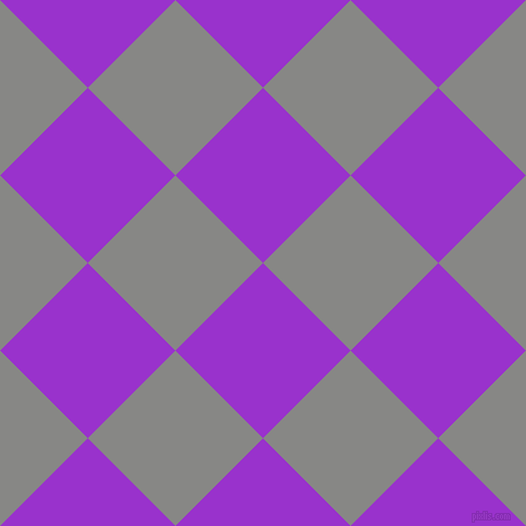 45/135 degree angle diagonal checkered chequered squares checker pattern checkers background, 114 pixel squares size, , Dark Orchid and Jumbo checkers chequered checkered squares seamless tileable