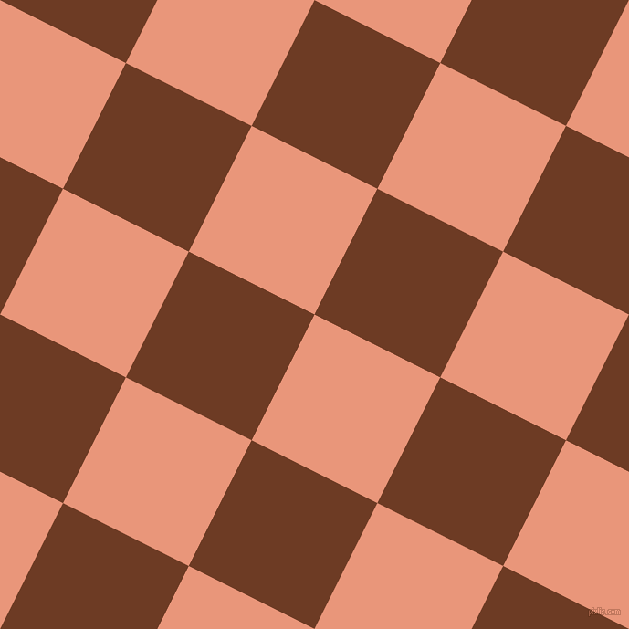 63/153 degree angle diagonal checkered chequered squares checker pattern checkers background, 154 pixel squares size, , Dark Salmon and New Amber checkers chequered checkered squares seamless tileable