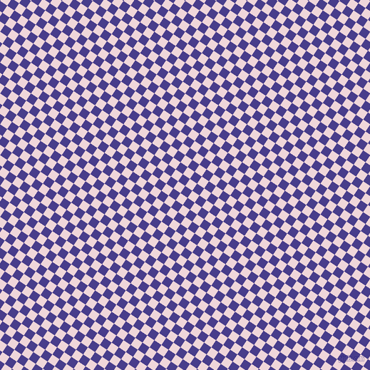 56/146 degree angle diagonal checkered chequered squares checker pattern checkers background, 12 pixel squares size, , Dark Slate Blue and Pale Rose checkers chequered checkered squares seamless tileable