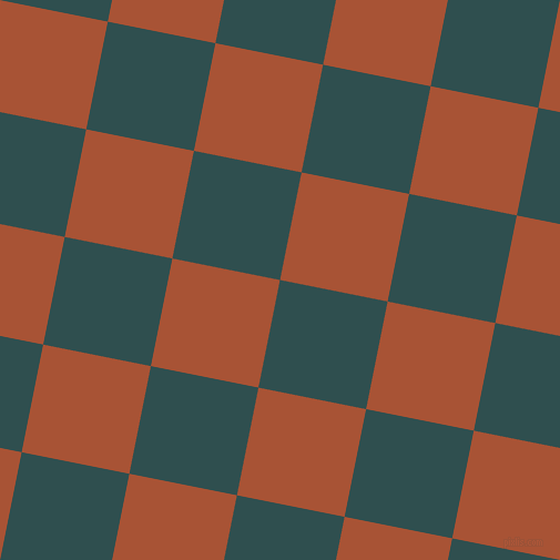 79/169 degree angle diagonal checkered chequered squares checker pattern checkers background, 99 pixel squares size, , Dark Slate Grey and Orange Roughy checkers chequered checkered squares seamless tileable