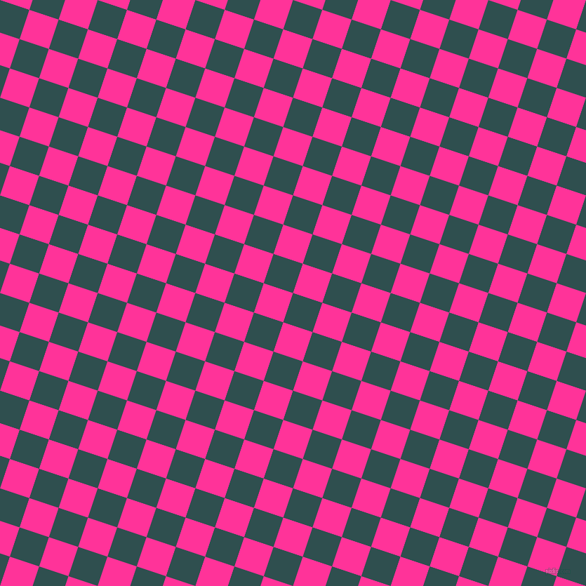 72/162 degree angle diagonal checkered chequered squares checker pattern checkers background, 44 pixel square size, , Dark Slate Grey and Wild Strawberry checkers chequered checkered squares seamless tileable