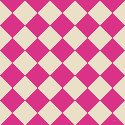 45/135 degree angle diagonal checkered chequered squares checker pattern checkers background, 71 pixel square size, , Deep Cerise and Pearl Lusta checkers chequered checkered squares seamless tileable