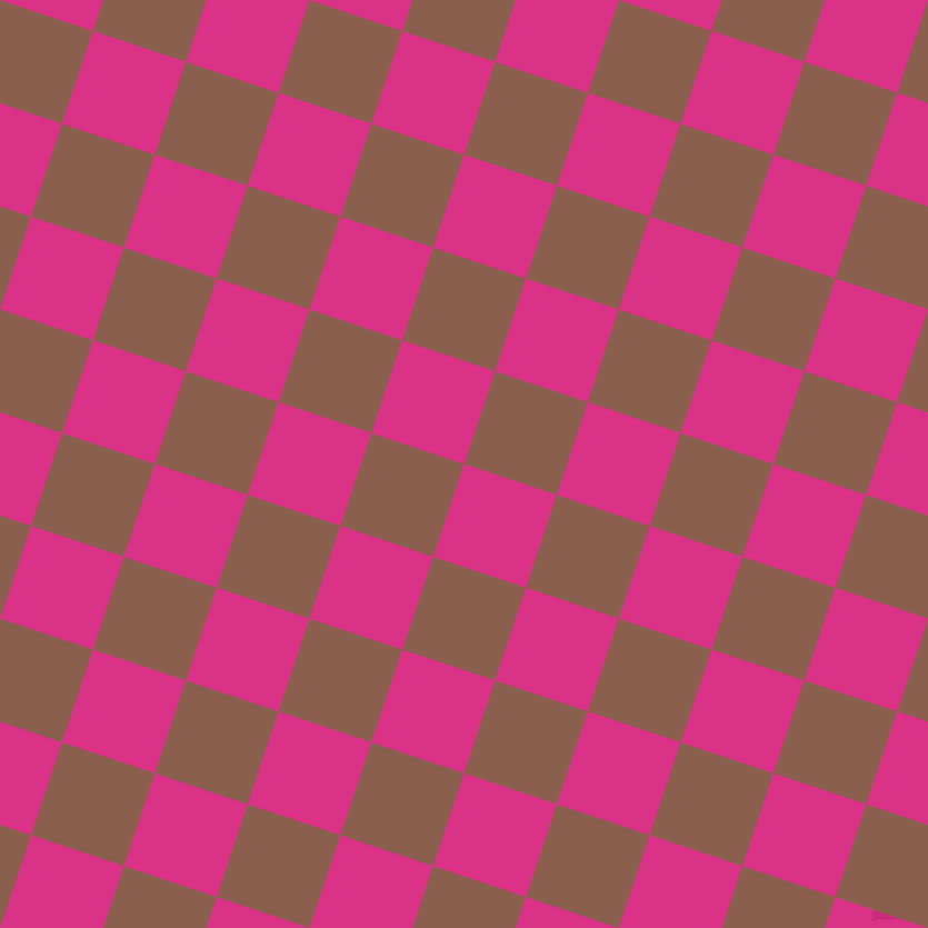 72/162 degree angle diagonal checkered chequered squares checker pattern checkers background, 88 pixel squares size, , Deep Cerise and Spicy Mix checkers chequered checkered squares seamless tileable