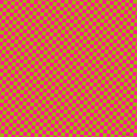 84/174 degree angle diagonal checkered chequered squares checker pattern checkers background, 13 pixel square size, , Deep Pink and Citrus checkers chequered checkered squares seamless tileable