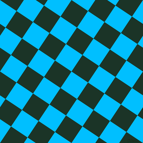 56/146 degree angle diagonal checkered chequered squares checker pattern checkers background, 65 pixel square size, , Deep Sky Blue and Cardin Green checkers chequered checkered squares seamless tileable